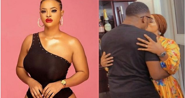 Nigerians React As Actress Angela Eguavoen Is Spotted Kissing Junior Pope [VIDEO]