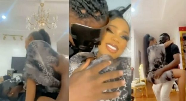 Toyin Lawani's Husband Fondles Her B00bs As They Seductively Dance In Fresh Video