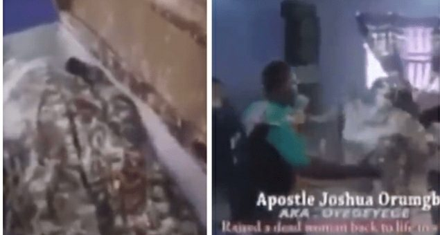 Moment Nigerian Prophet Raised A Woman From The 'Dead' & She Started Dancing (VIDEO)