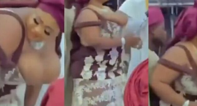 WATCH: Maid Of Honor's Big Melons Nearly Falls Out Of Her Bra Whiles Dancing At A Wedding