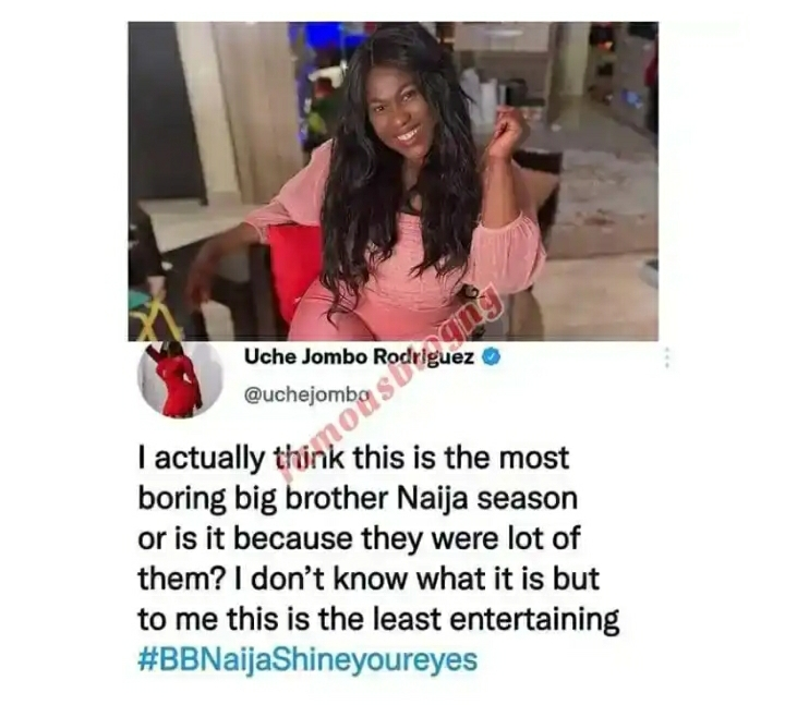 This Is The Most Boring Big Brother Season – Uche Jombo Says