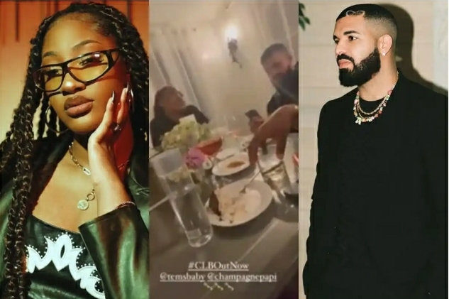 Tems Hangs Out With Drake After He Featured Her On His #CertifiedLoverBoy Album [Video]