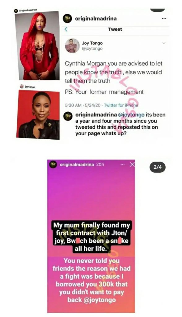 Cynthia Morgan 'Curses' Her Former Manager And Jude Okoye Over The Pains They Caused Her