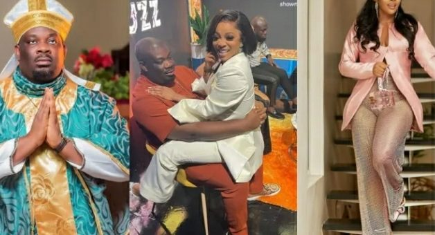 Don Jazzy Requests Naira Marley's 'Coming' As He Shares 'Romantic' Photo With Toke Makinwa