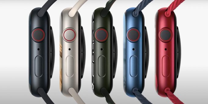 Apple Watch Series 7 'Starlight' and 'Midnight' are available in what colors?