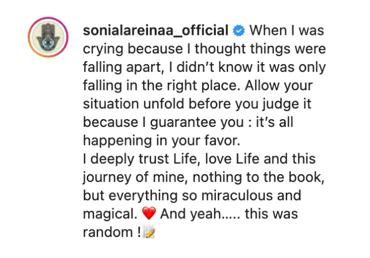 'When I Was Crying Because I Thought Things Were Falling Apart, I Didn't Know It Was Only Falling In The Right Place' – IK Ogbona's Ex-Wife, Sonia