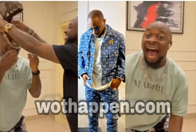 Moments Davido Gifted MC Lively His Chain Worth 30 Million Naira [Video]